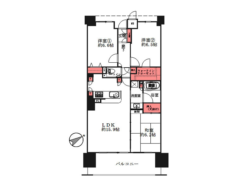 ルナタワー・ハリウッドプレイス-1310号