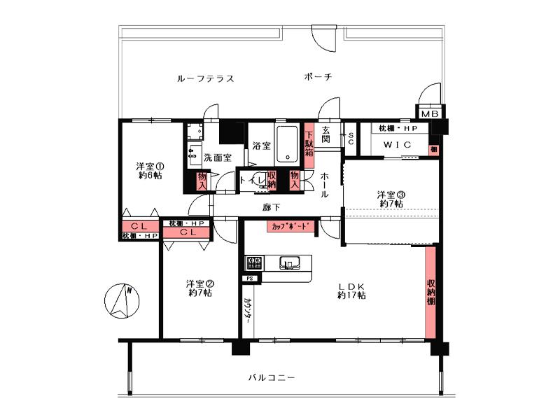 高槻阿武山三番街301号棟-1204号