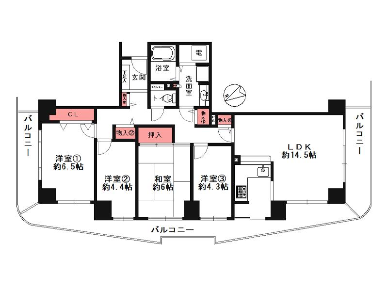 ベル・パークシティ画地ⅡJ棟-2801号