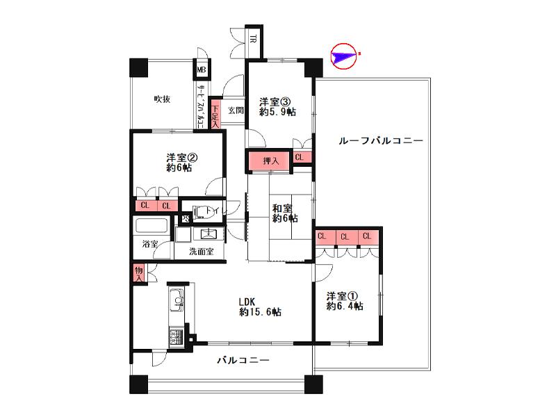 レピア・アーバン塚口北アクアリッジ-518号