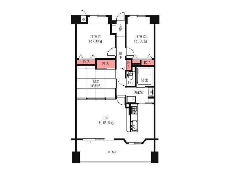 チュリス枚方・田宮本町-413号