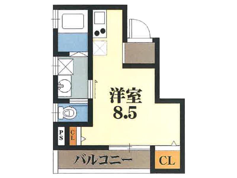 【賃貸】プリッ2α 長瀬 201号室
