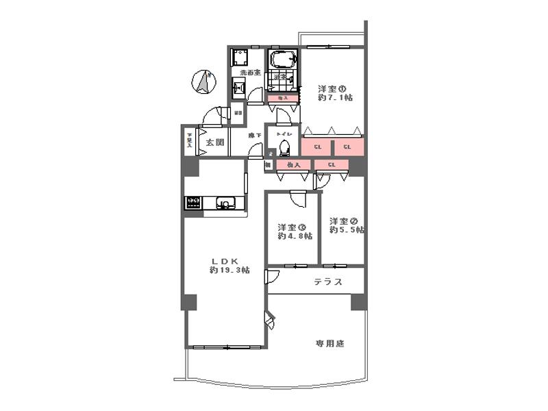 ラ・メ-ル狩口(Ⅱ)3番館-202号