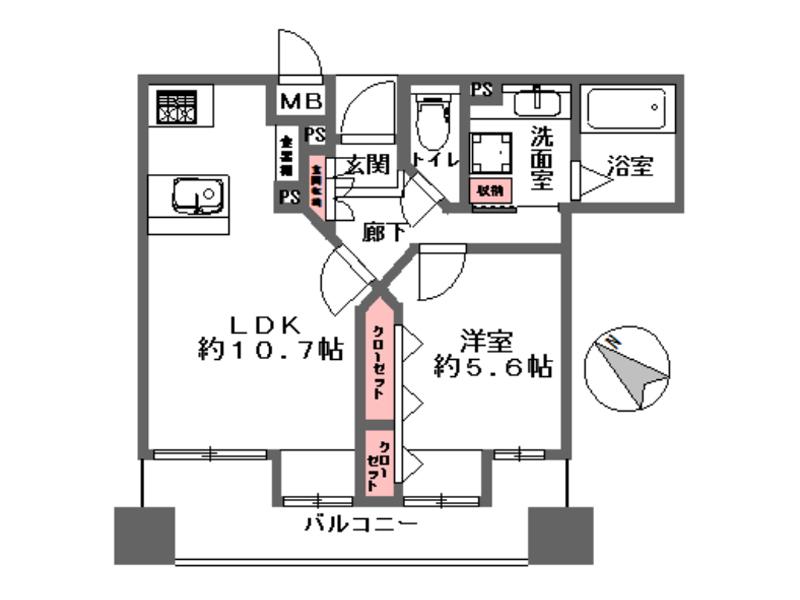 ワコーレ元町ベレッツァ-402号