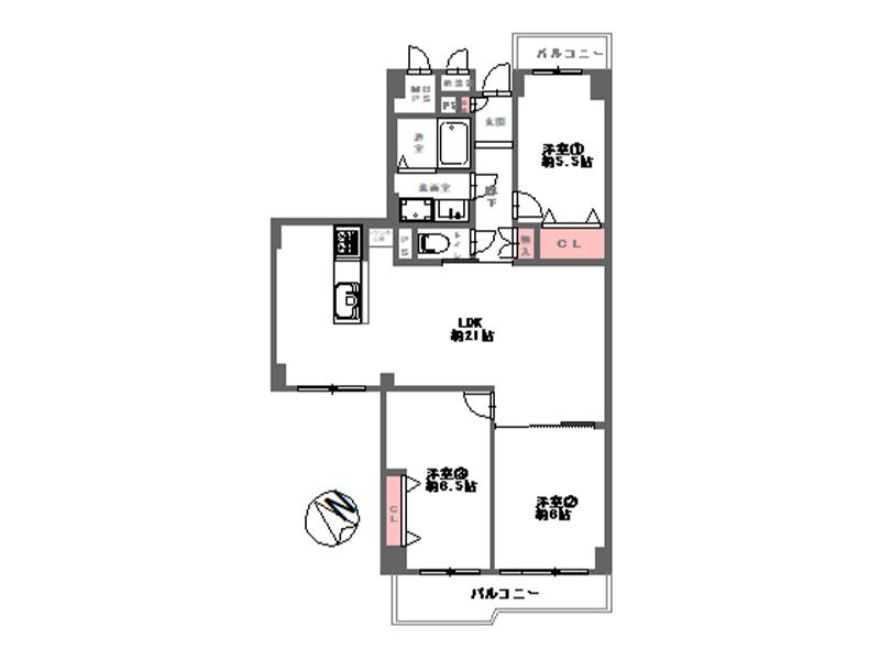 日興緑地公園スカイマンション-502号