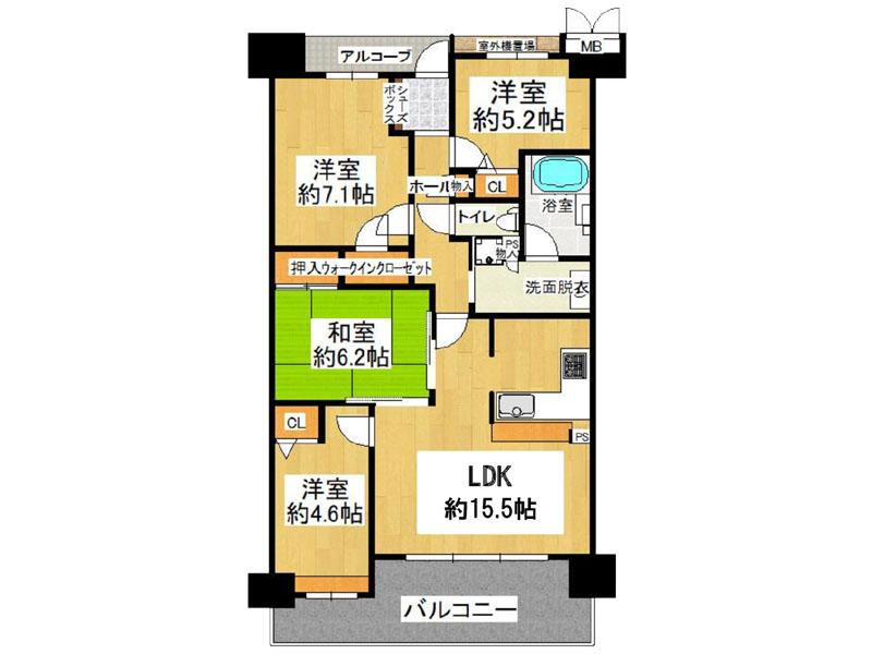 ローレルコート藤井寺 205号室